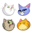 cartoon set of colorful cats icons vector image vector image