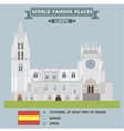 Cathedral of Saint Mary of Burgos vector image vector image