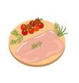 chicken fillet organic diet meat vector image vector image
