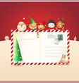 christmas friends on letter for santa claus vector image