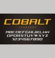 cobalt decorative font design alphabet typeface vector image vector image