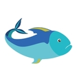 colorful silhouette with sea fish blue vector image vector image