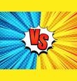 comic versus bursting template vector image vector image