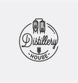distillery house logo round linear vector image vector image
