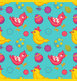 easter seamless pattern eggs and birds chicken and vector image vector image