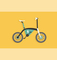 electric bike with black white and blue color vector image