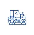farm tractor line icon concept farm tractor flat vector image vector image