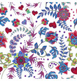 fashion seamless texture with fantasy flowers vector image