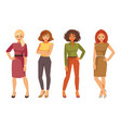 fashion women in office clothes vector image vector image