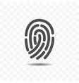 finger print icon design concept vector image vector image