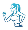 fitness woman profile vector image