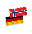 flags norway and germany on a white background vector image