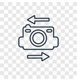 flip camera concept linear icon isolated on vector image