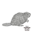 forest animal beaver hand drawn black ink sketch vector image vector image