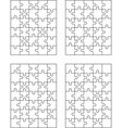 four jigsaw puzzles vector image vector image