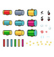 hammer game sprites vector image vector image
