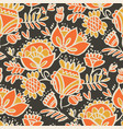 hand drawn sketch style floral seamless pattern vector image vector image