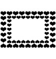 heart black and white pattern vector image vector image