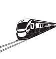 high speed train on white background vector image