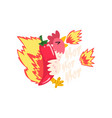 hot fire chicken with red chilli pepper creative vector image vector image