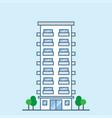 hotel building facade with balconies vector image