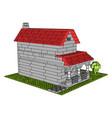 house bricks on white background vector image vector image