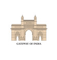 india mumbai city indian gateway famous landmark vector image vector image