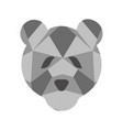 isolated low poly bear icon vector image vector image