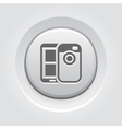 Mobile Photo Blogging Icon vector image