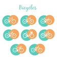 Modern Bicycles Set vector image