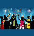 new year celebration party vector image