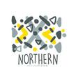 nothern logo template original design badge for vector image vector image