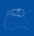 outline air compressor vector image