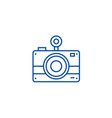 photo camera line icon concept photo camera flat vector image