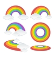 Rainbow Set vector image