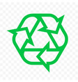recycle triangle arrow outline icon eco waste and vector image