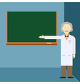 Scientist and school board vector image vector image