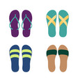 set different flip flops vector image