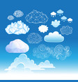 set different graphic clouds vector image vector image