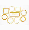 set gold metal realistic frames different vector image