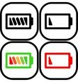 Set of battery icon - flat design Eps 10 vector image vector image