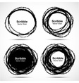 Set of Hand Drawn in Pencil Scribble Circles vector image vector image