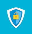 shield with lock vector image vector image