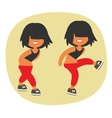 Sporty dancing beautiful teenager girl character vector image vector image