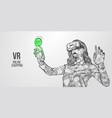 vr headset holographic virtual reality glasses vector image vector image