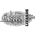 when lizards will not eat they have to eat text vector image vector image
