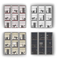 windows pattern office windows vector image