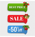 winter sale banner with christmas toys vector image