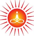 yoga energy vector image vector image