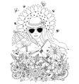 zentangl doodle portrait of vector image vector image